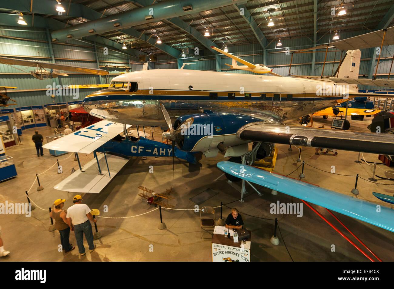 Elk203-5691 Canada, Alberta, Wetaskiwin, Reynolds-Alberta Museum, vintage airplanes - Stock Image