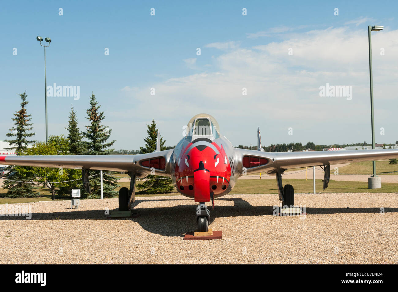 Elk203-5697 Canada, Alberta, Wetaskiwin, Reynolds-Alberta Museum, vintage fighter jets Stock Photo