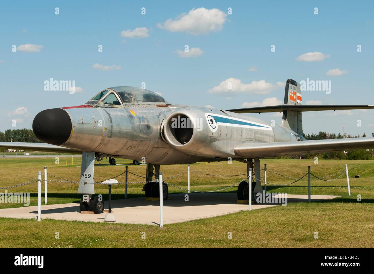 Elk203-5698 Canada, Alberta, Wetaskiwin, Reynolds-Alberta Museum, vintage fighter jets Stock Photo
