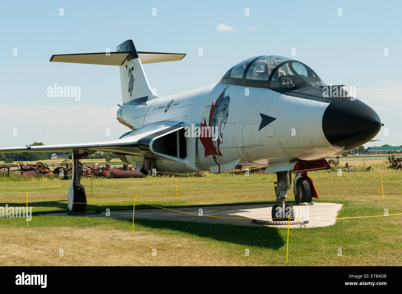 Elk203-5700 Canada, Alberta, Reynolds-Alberta Museum, vintage fighter jets - Stock Image