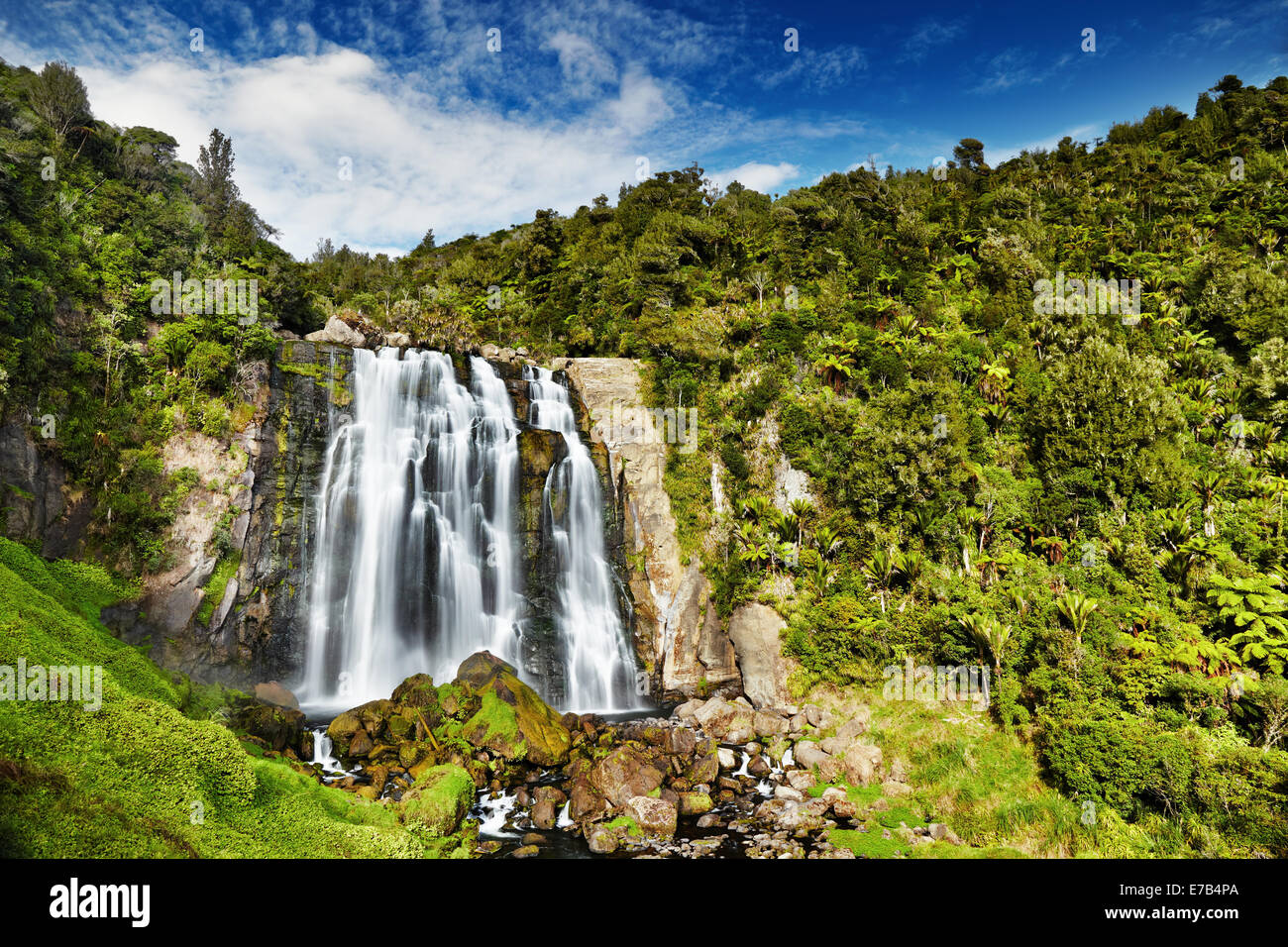 Marokopa Falls, North Island, New Zealand - Stock Image