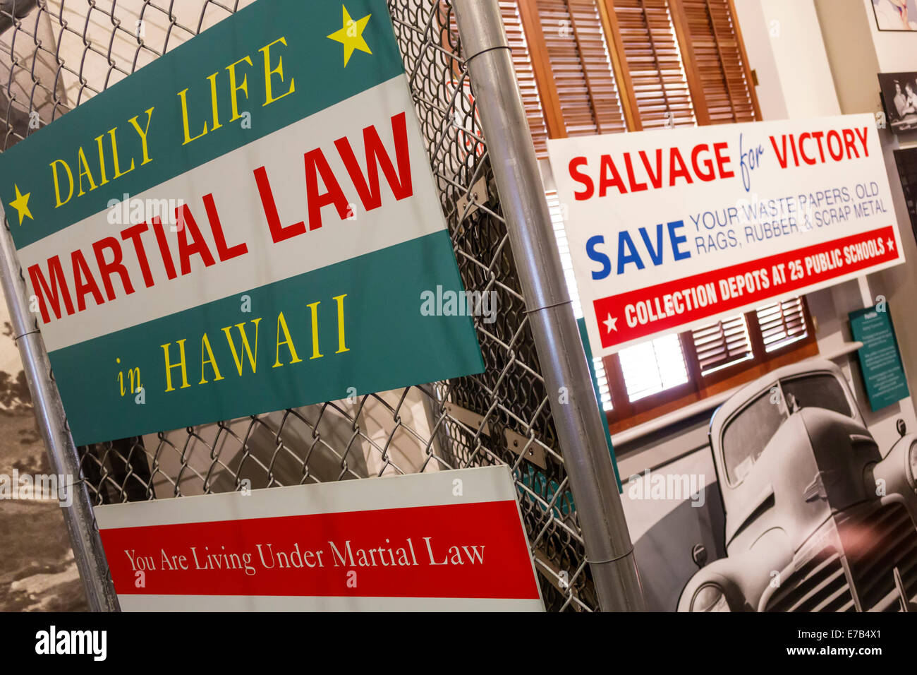 Hawaii Hawaiian Honolulu Ali'iolani Hale Aliiolani King Kamehameha V Judiciary History Center museum exhibit - Stock Image