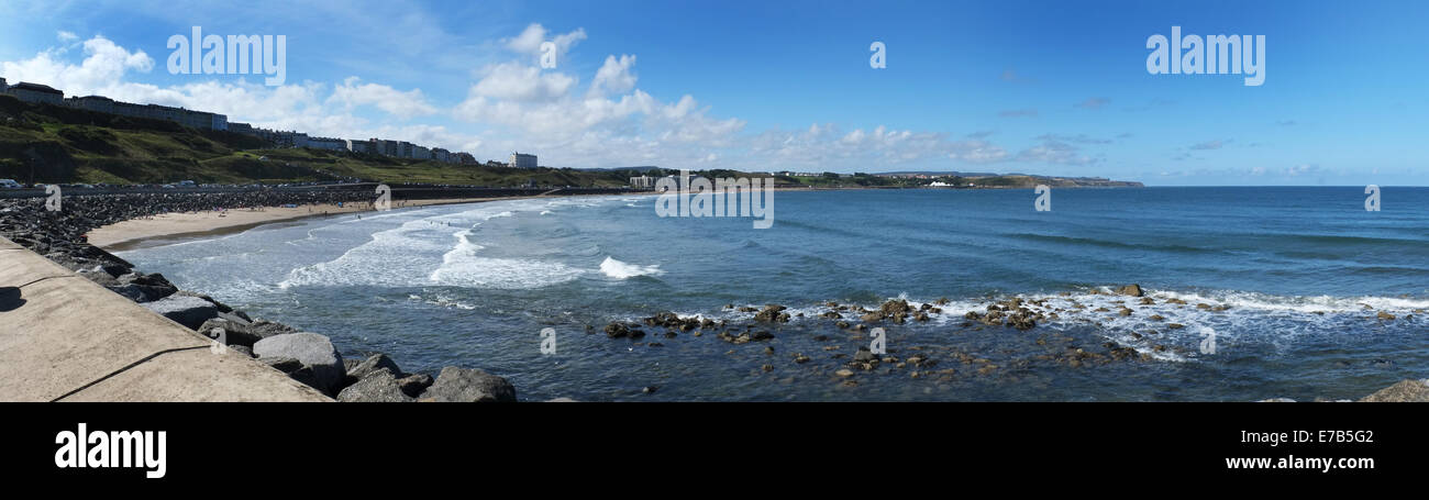 Panoramic view, Scarborough north bay. - Stock Image