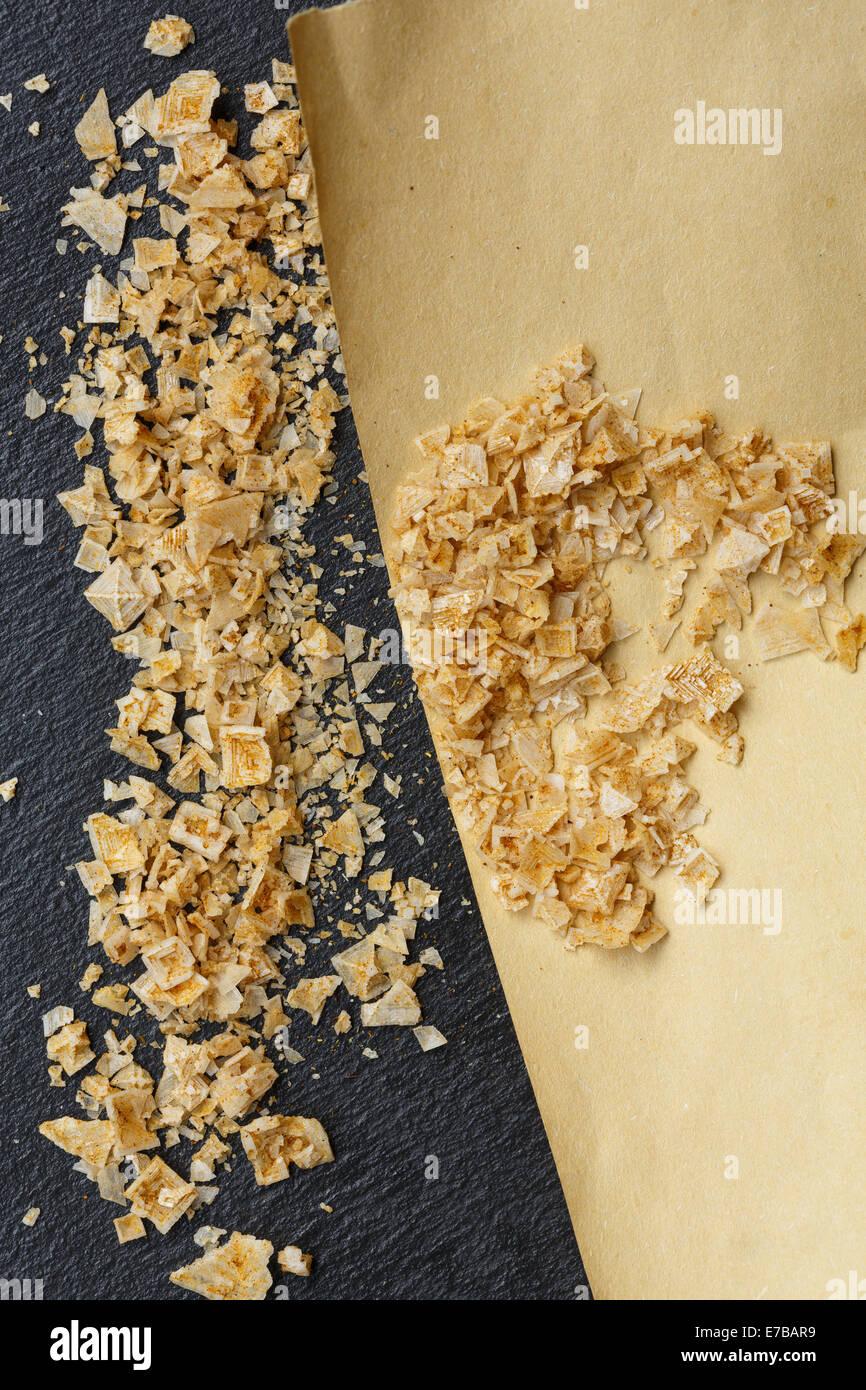 Cyprus Pyramid crystal flake sea salt - Stock Image