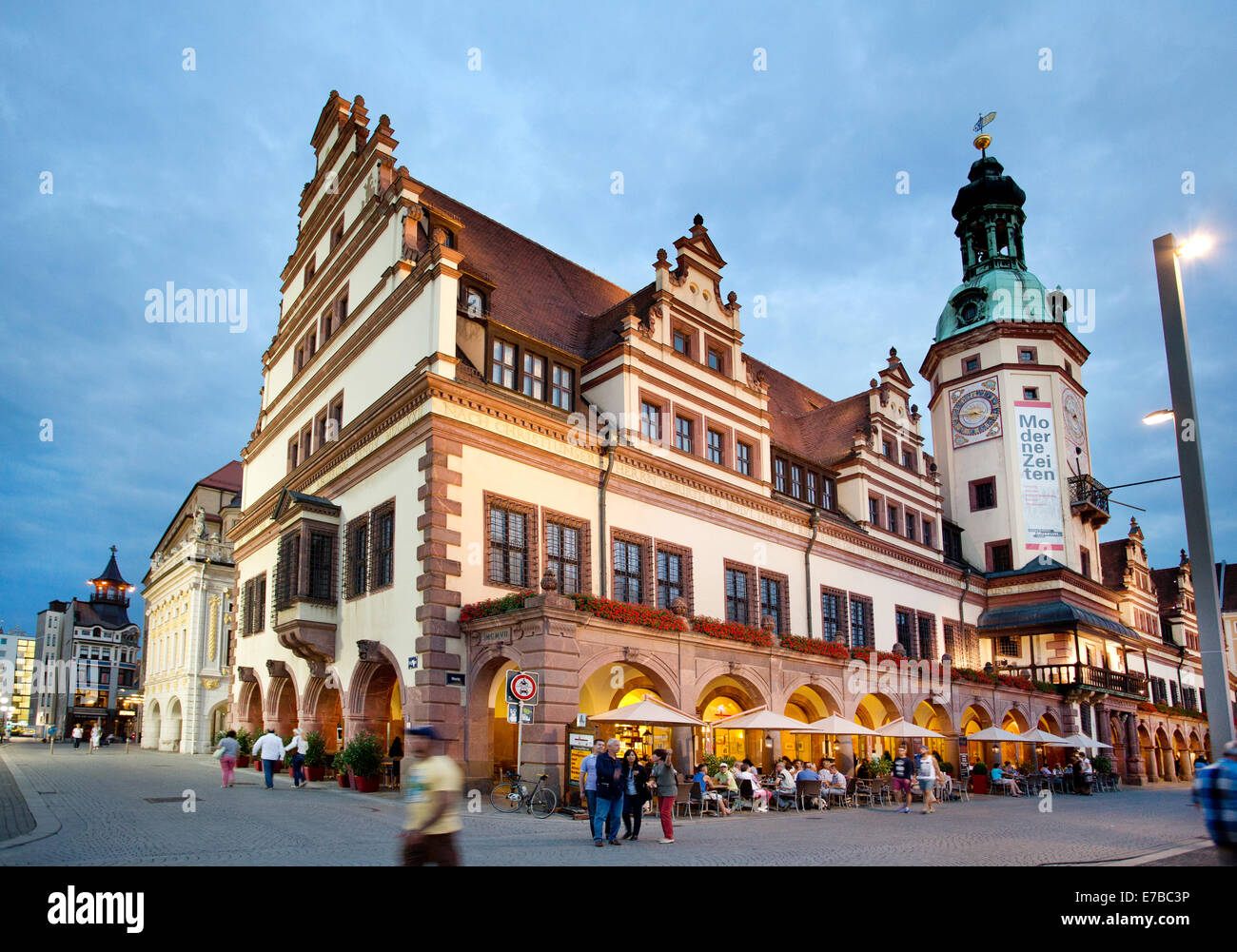 Market Square In Leipzig Germany Stock Photo Alamy
