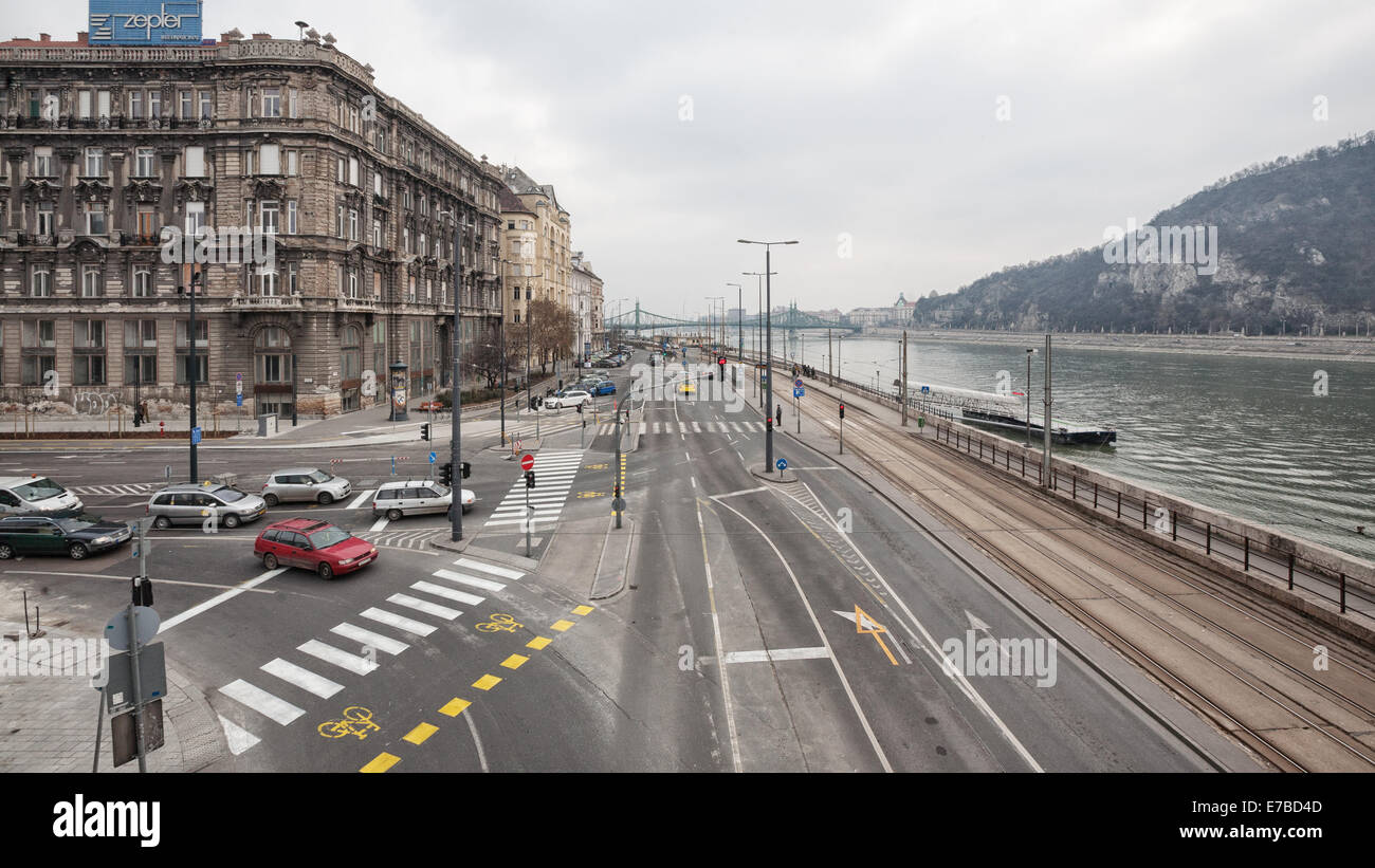 Budapest (Hungary) - A view of the city and the Danubio river Stock Photo