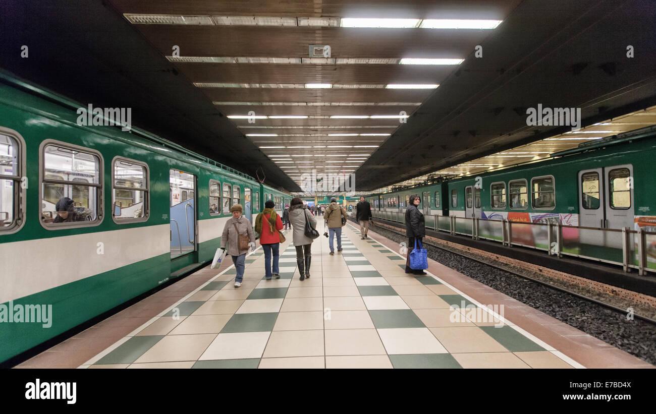 Budapest (Hungary) -  HÉV suburban train runs to Szentendre from Batthyány tér in Budapest Stock Photo