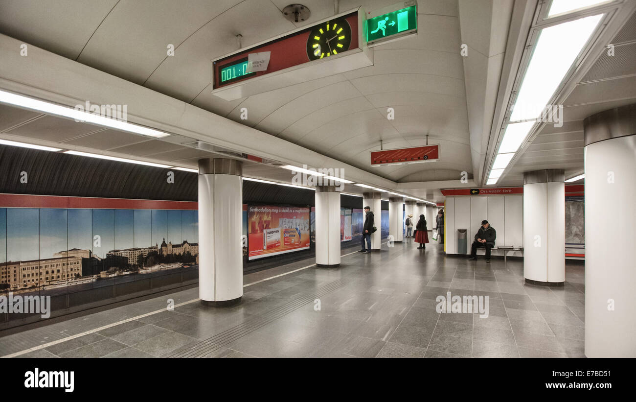 Budapest (Hungary) -  Metro station Stock Photo