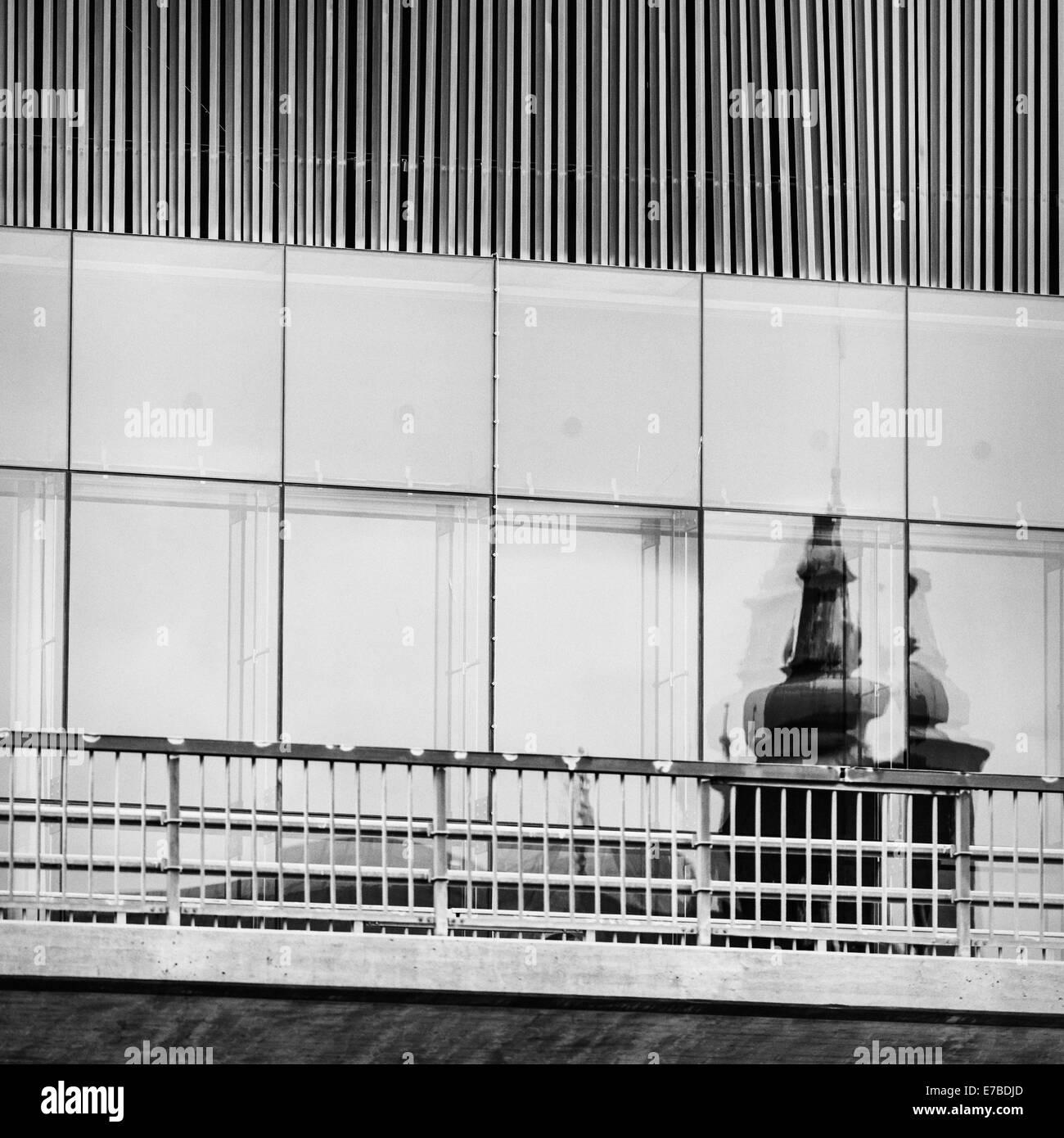 Building exterior, modern architecture in Stockholm, Sweden - Stock Image