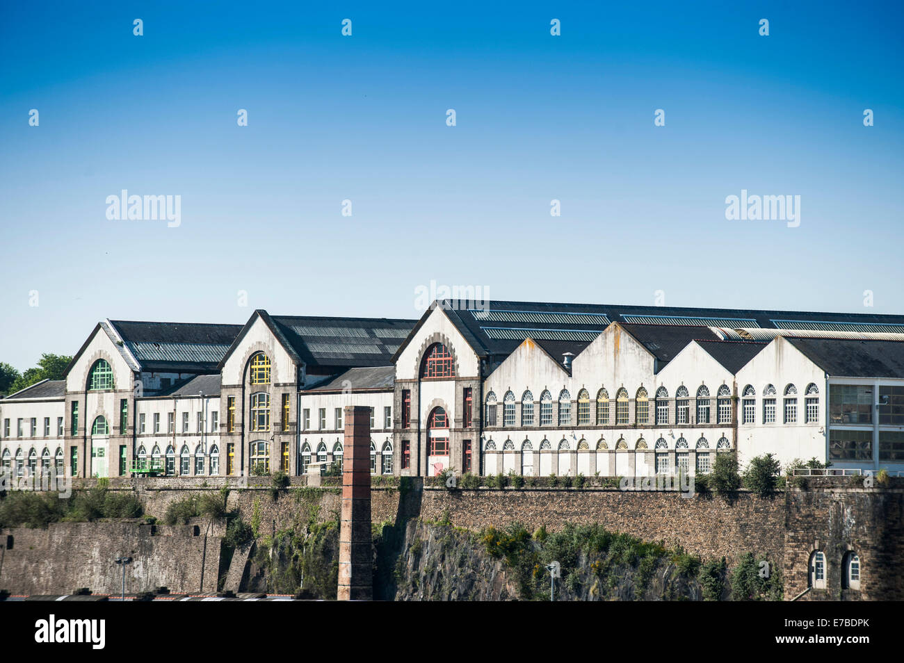 Factory buildings, Brest, Brittany, France - Stock Image