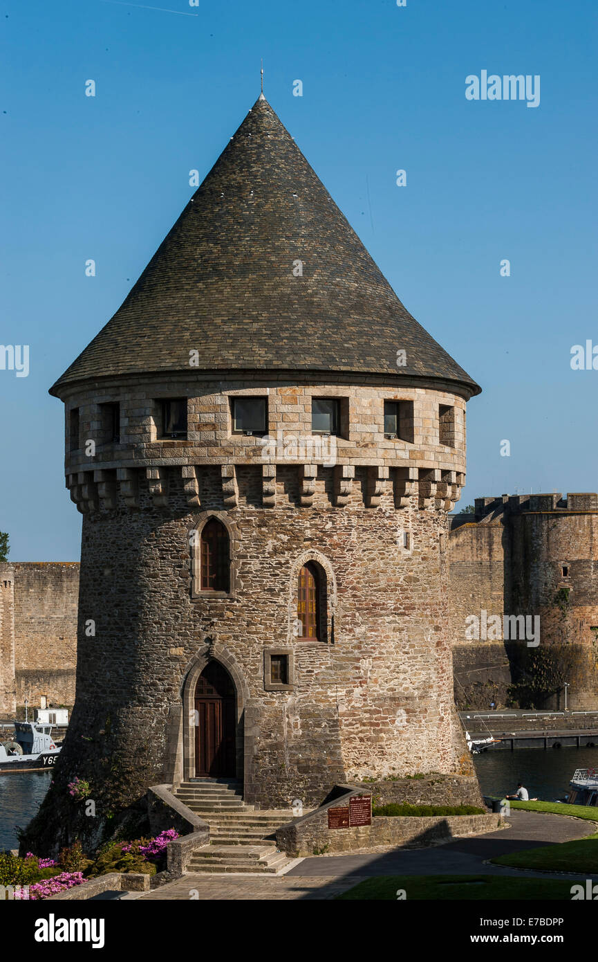 Tour Tanguy, medieval tower, Brest, Brittany, France - Stock Image