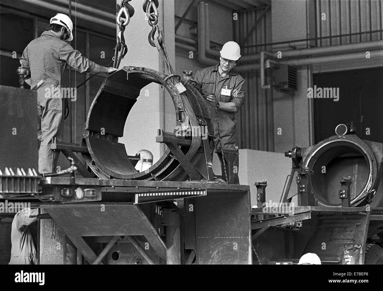 Hausen (Frankfurt), demolition of launchers for nuclear missiles Pershing II after INF treaty between USA and Soviet - Stock Image