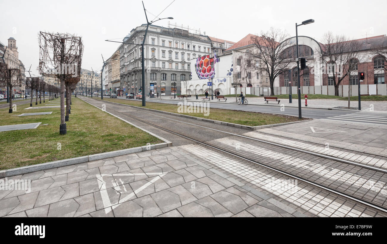 Budapest (Hungary) - A view of the Pest city Stock Photo