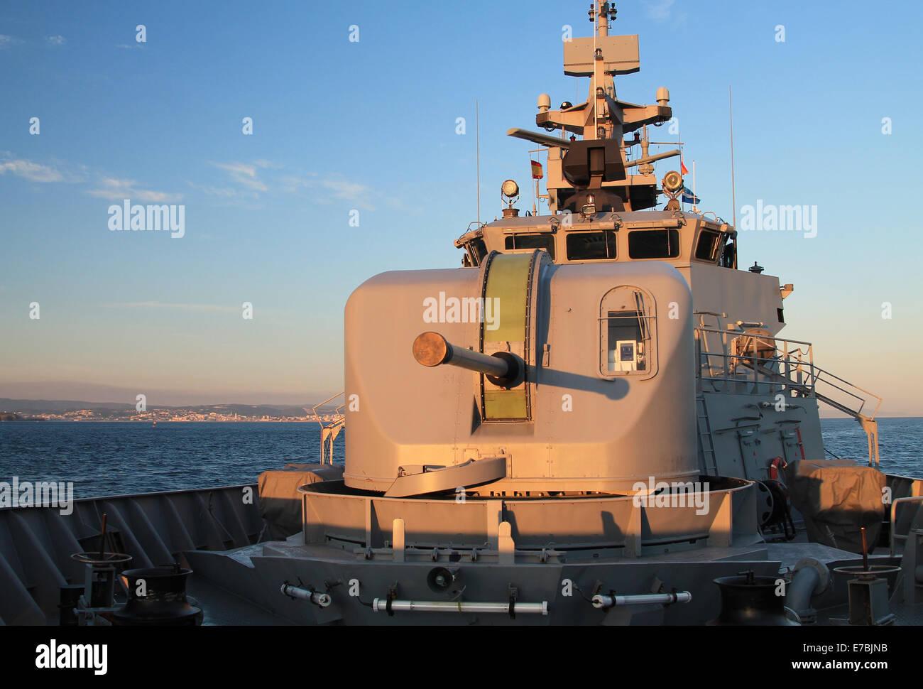 Finnish Navy Ship Uusimaa in Northern Spain - Stock Image