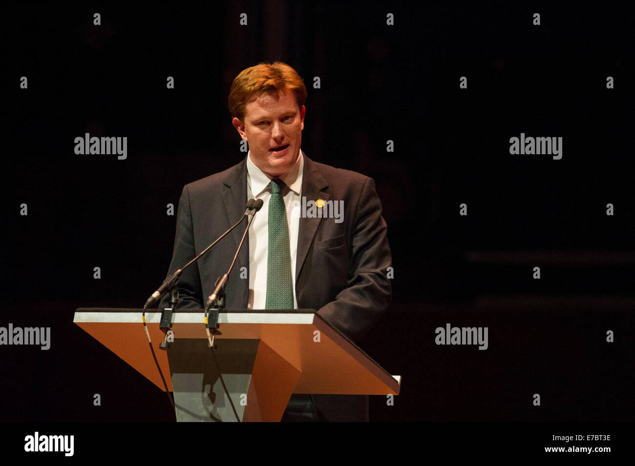 Edinburgh, Scotland, UK. 12th September, 2014. The Peoples Question Time at the Usher Hall with Danny Alexander Stock Photo