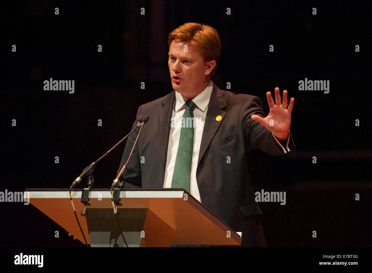 Edinburgh, Scotland, UK. 12th September, 2014. The Peoples Question Time at the Usher Hall with Danny Alexander - Stock Image