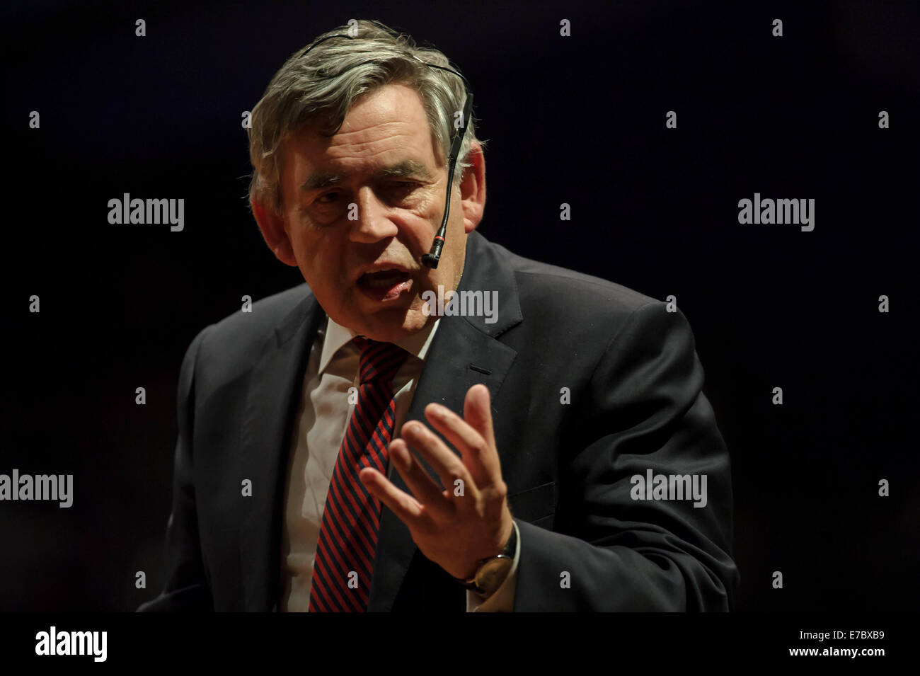 Edinburgh, Scotland, UK. 12th Sep, 2014. Gordon Brown puts in a performance at The Peoples Question Time at the - Stock Image