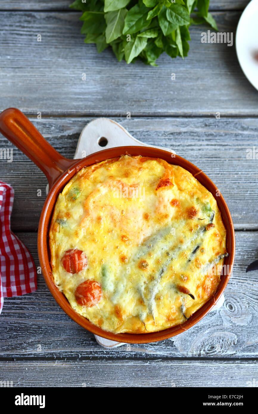 Casserole homemade tasty food closeupe - Stock Image