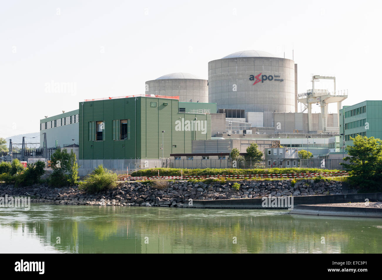 Nuclear power plant Beznau, Switzerland (canton Aargau), at the Aare river. - Stock Image