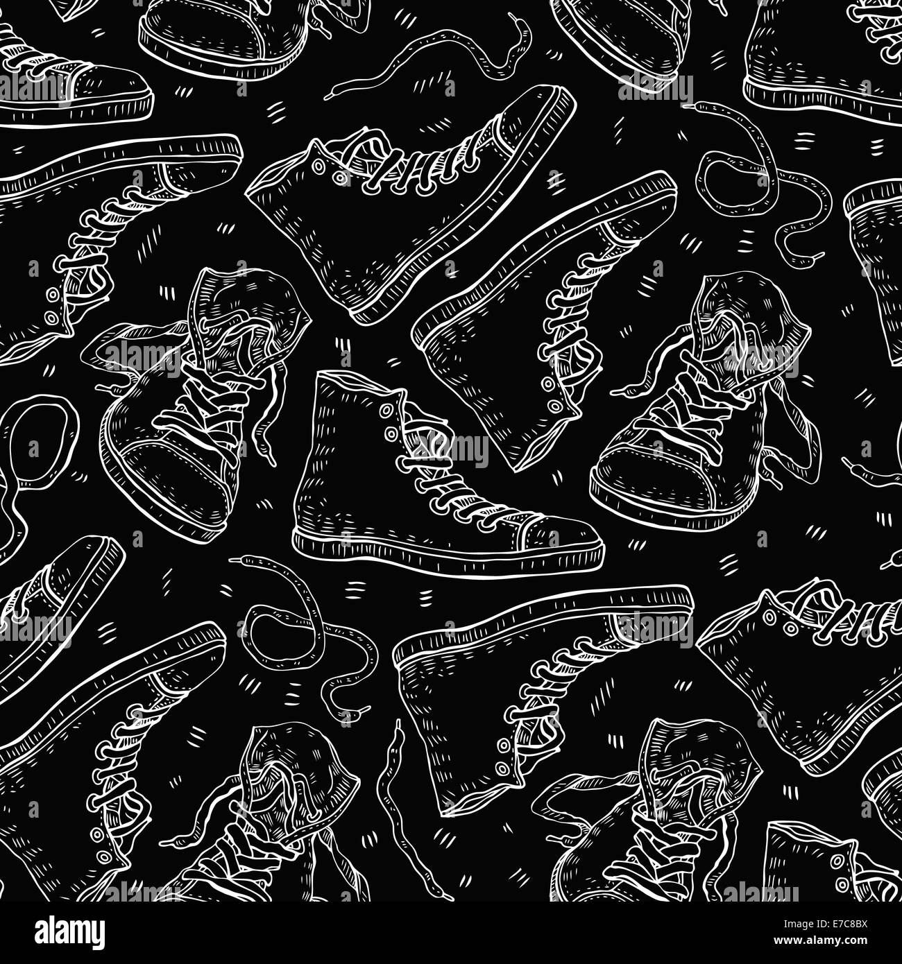 Sneakers. Seamless background. - Stock Image