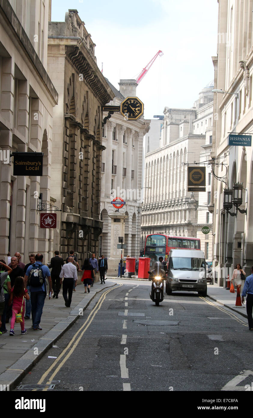 City Of London Bankers and Workers in Rush Hour - Stock Image