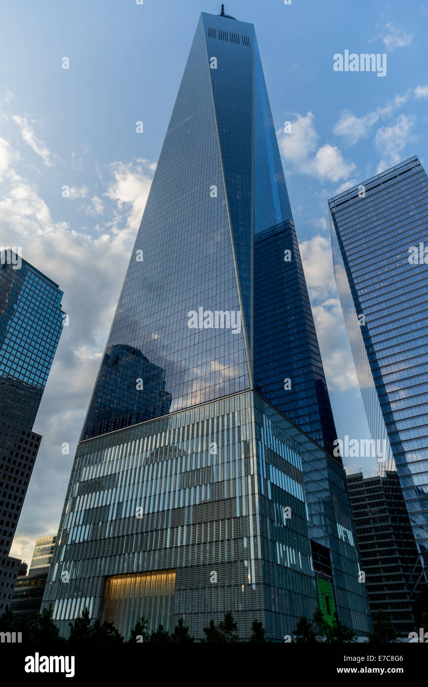 A view of the new One World Trace Center in New York City. - Stock Image