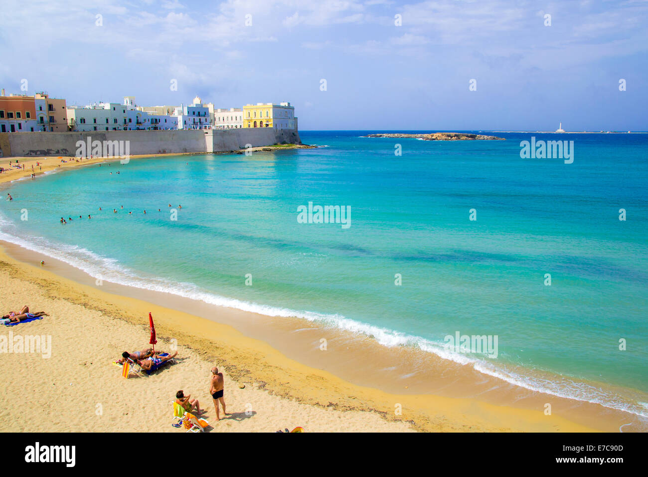 Gallipoli beach - Stock Image