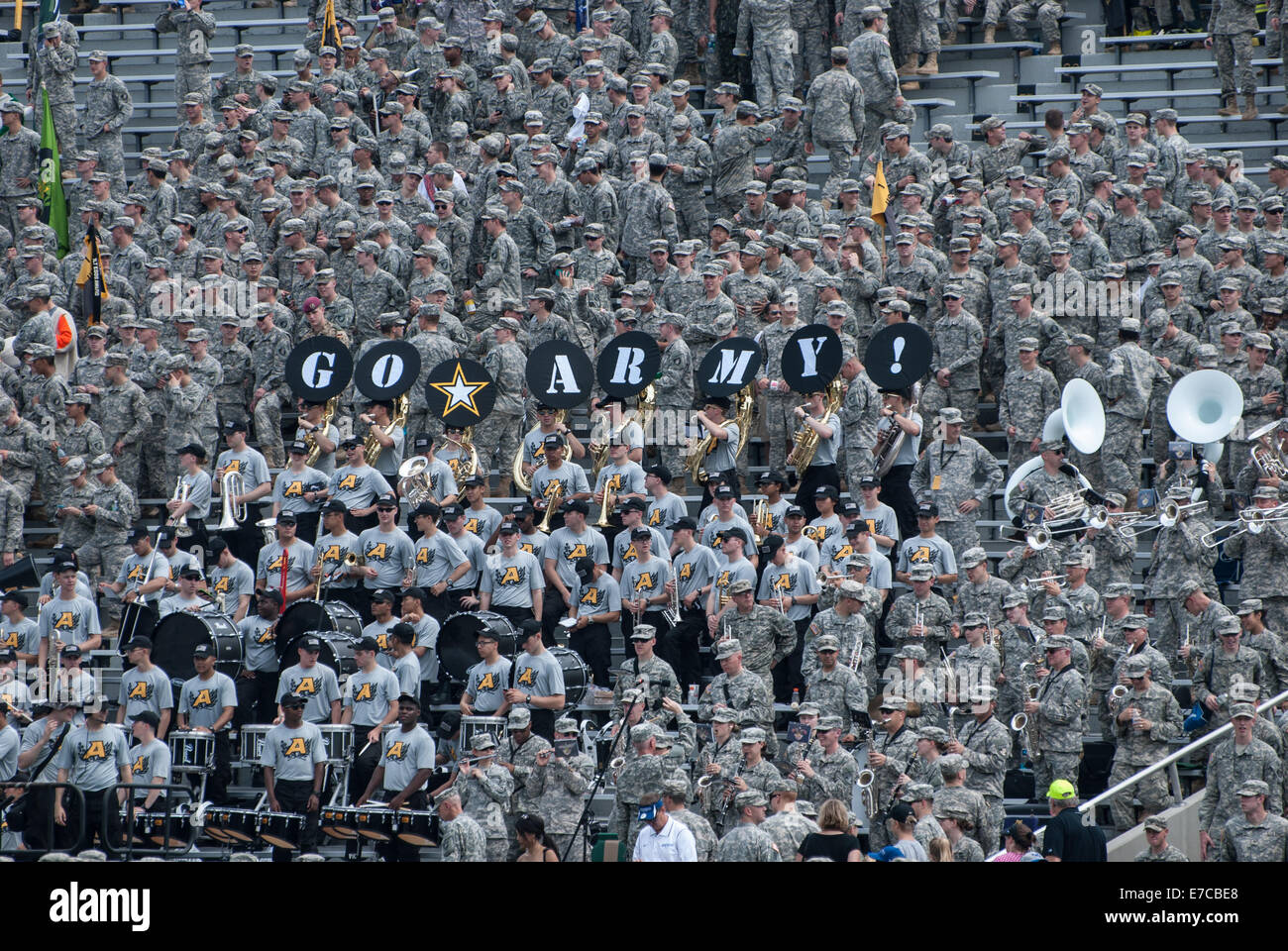 A United States Military Academy football game played at Mitchie Stadium at West Point, NY - Stock Image