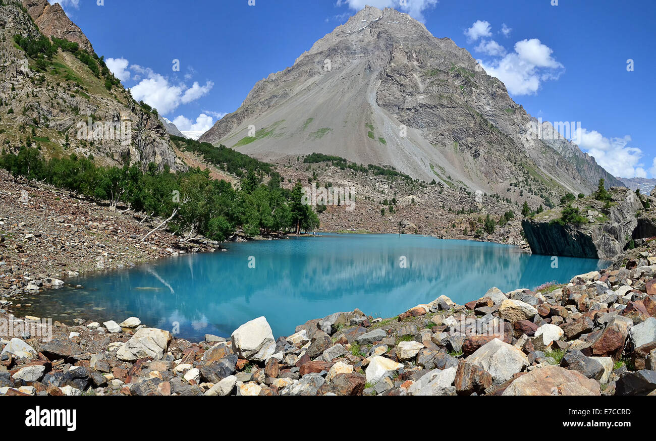 Naltar Lake, Gilgit Baltistan, Pakistan Stock Photo