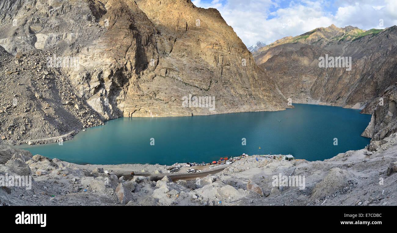 Atabad Lake, Hunza, Gilgit Baltistan, Pakistan - Stock Image