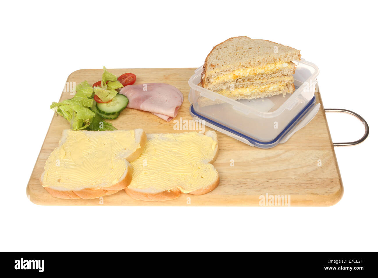 What are the different ingredients in preparing sandwiches