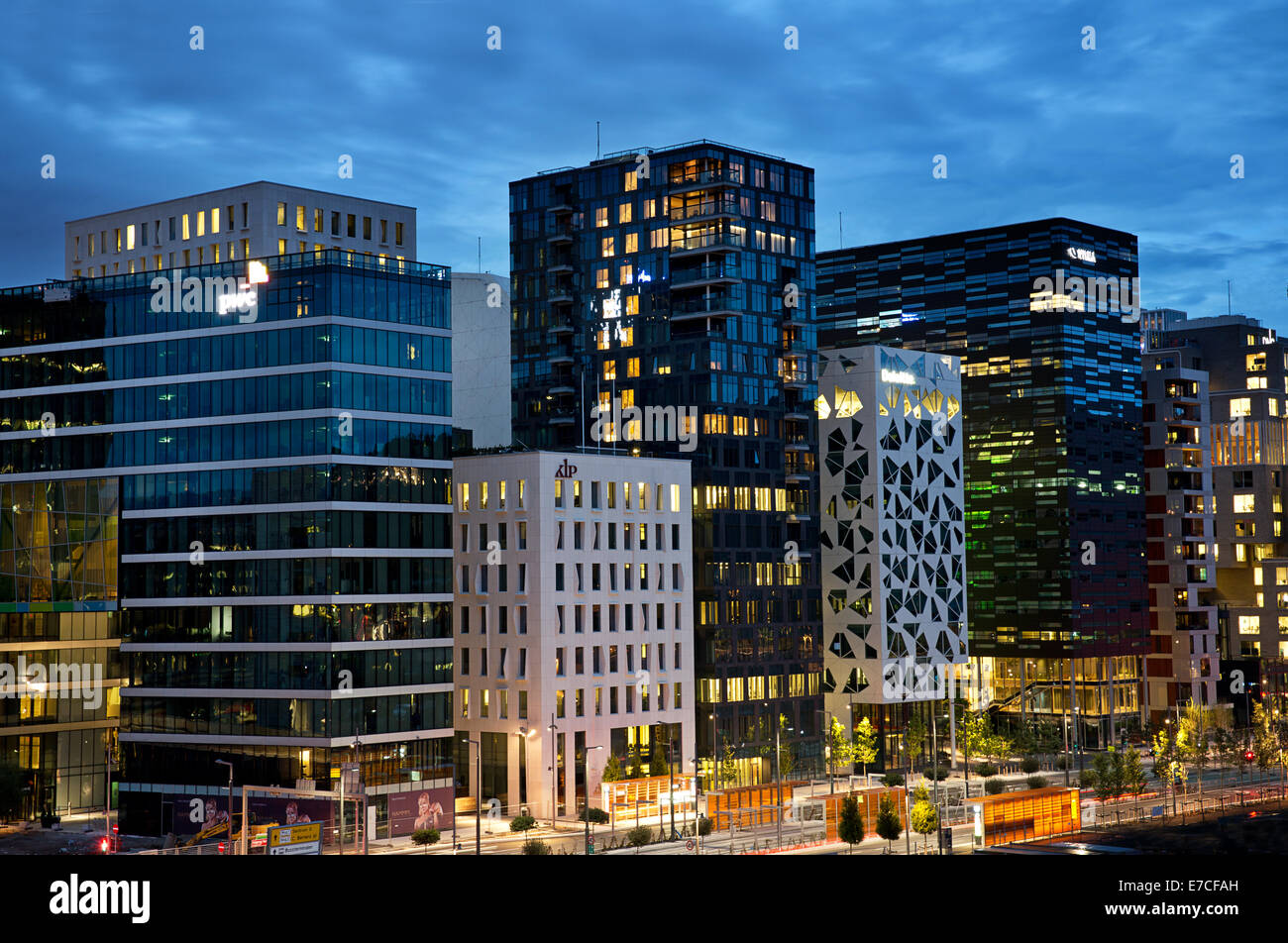 Oslo, Norway. The Barcode buildings. Financial district. Stock Photo
