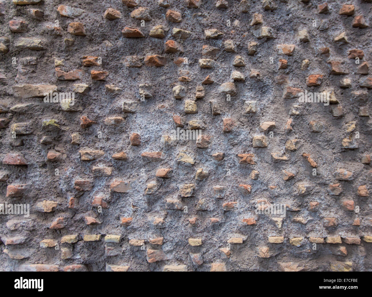 Pattern of exposed brick wall - dates back to ancient Rome (Italy) Stock Photo