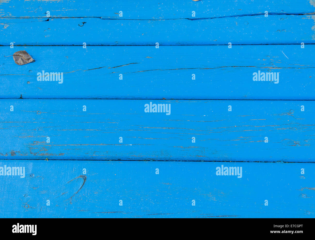 Blue Planks - Stock Image