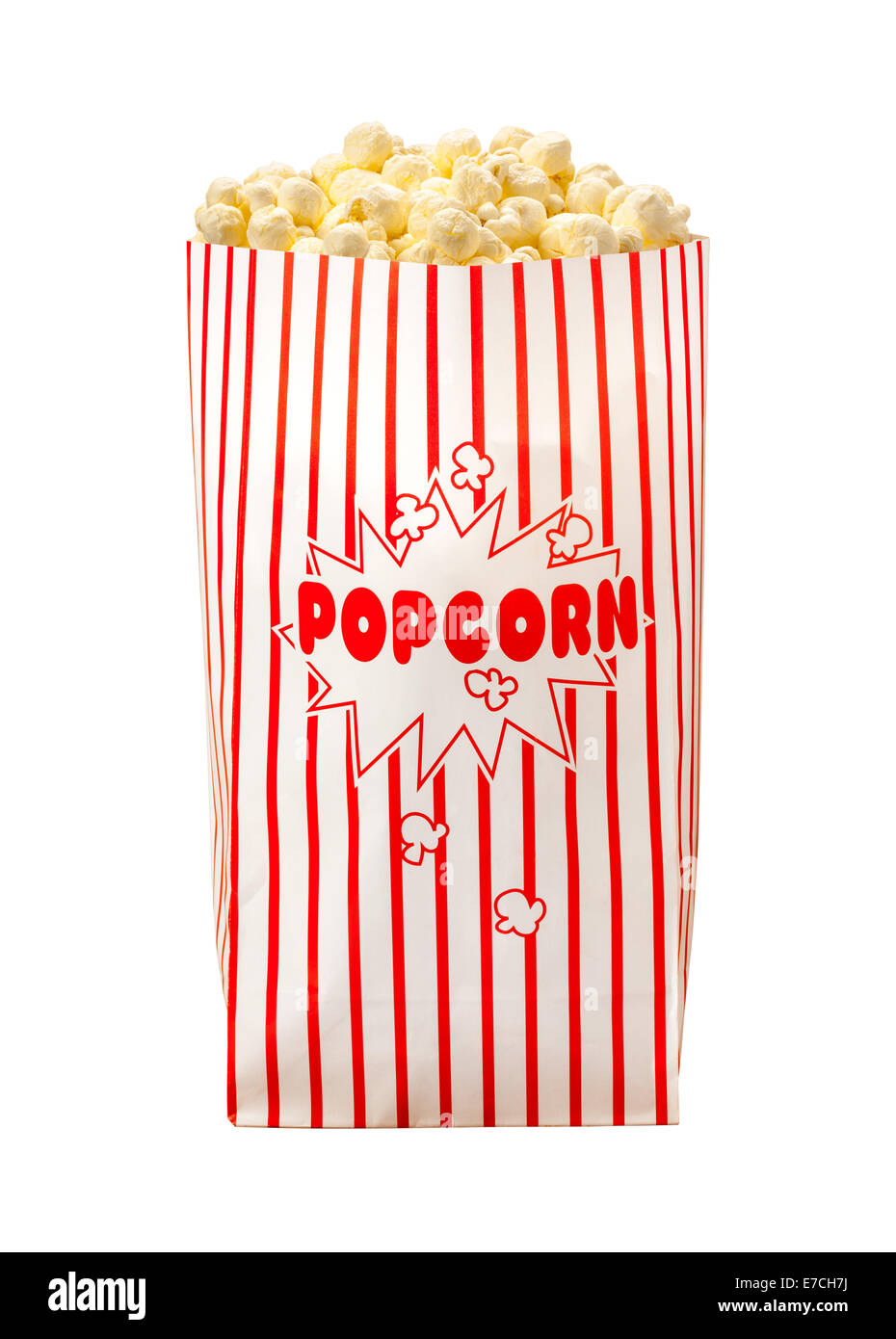 Popcorn Bag isolated on a white background. - Stock Image