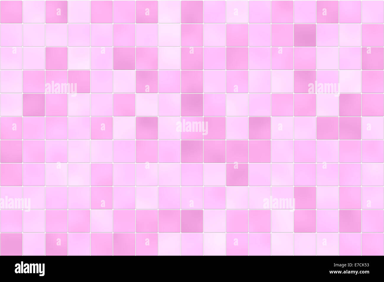Raster Illustration Of Square Bathroom Shower Tiles In Random Shades Pink For Use As A Holiday Background Or Design Element