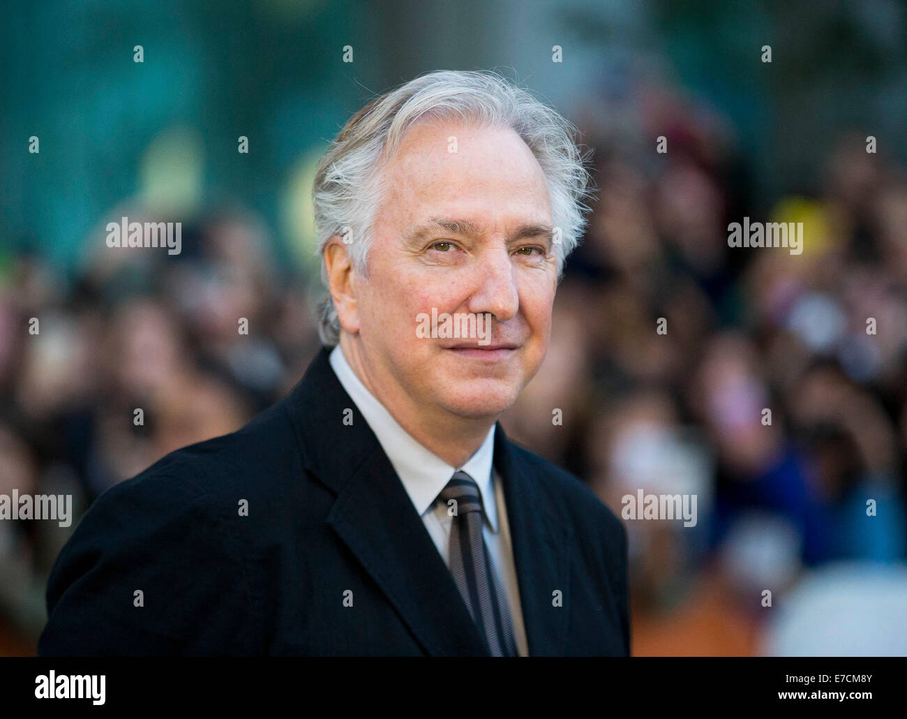 Toronto, Canada. 13th Sep, 2014. British director Alan Rickman attends the premiere of film 'A Little Chaos' - Stock Image