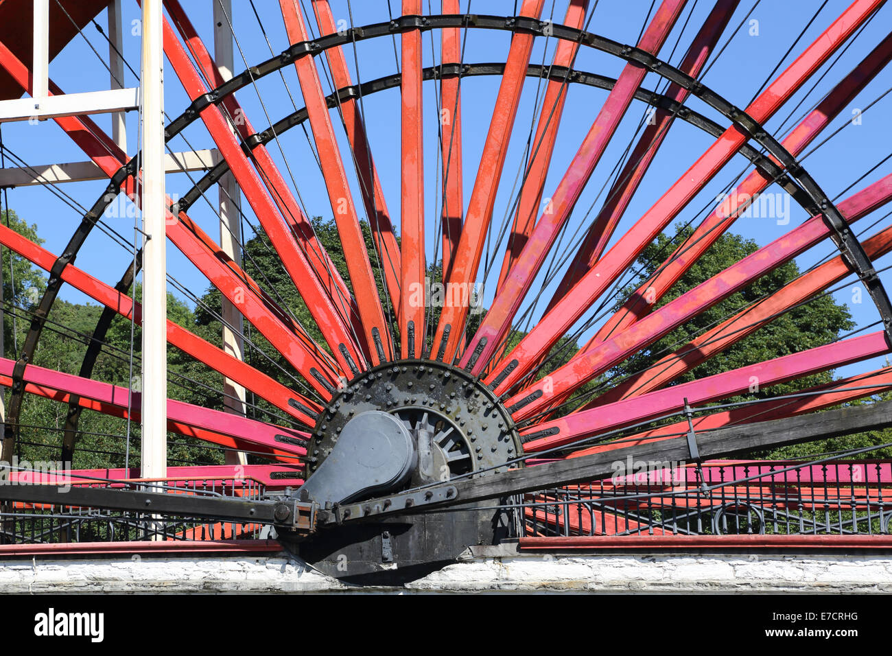 the great wheel at laxey on the east coast of the isle of man Stock Photo