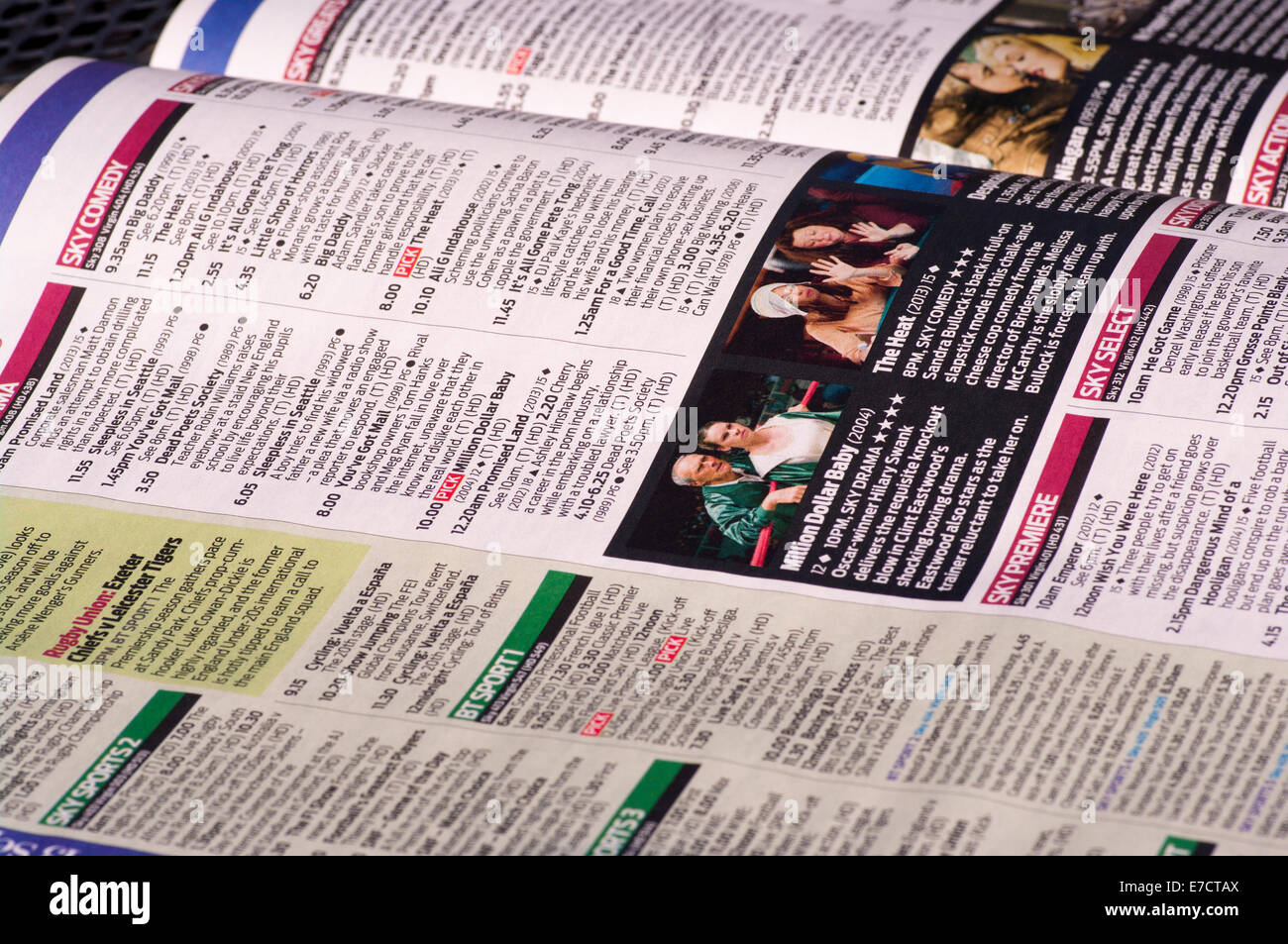 Television Listings TV Listing Guide Magazine - Stock Image