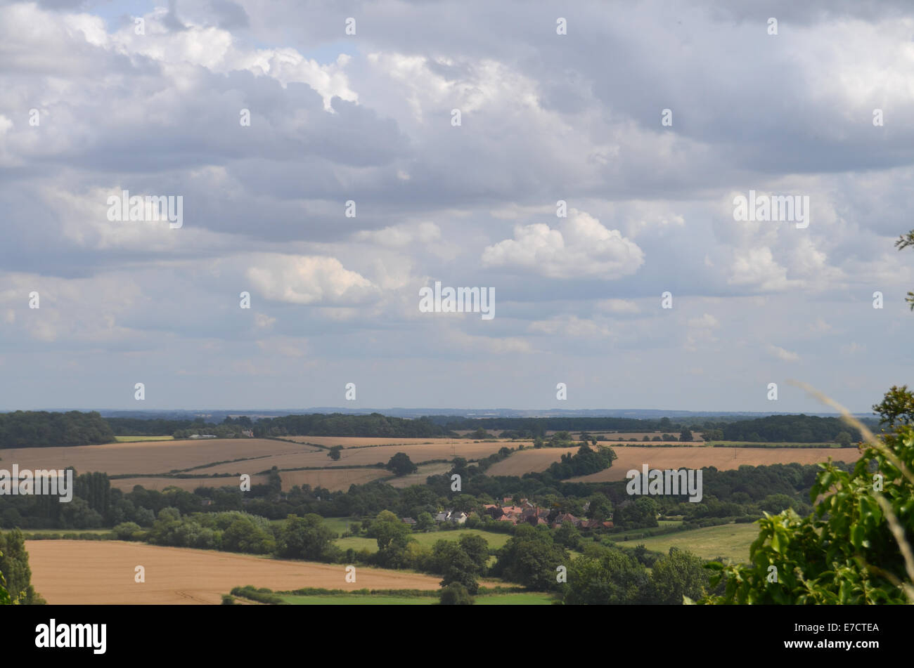 Leicestershire countryside UK August 2014 - Stock Image