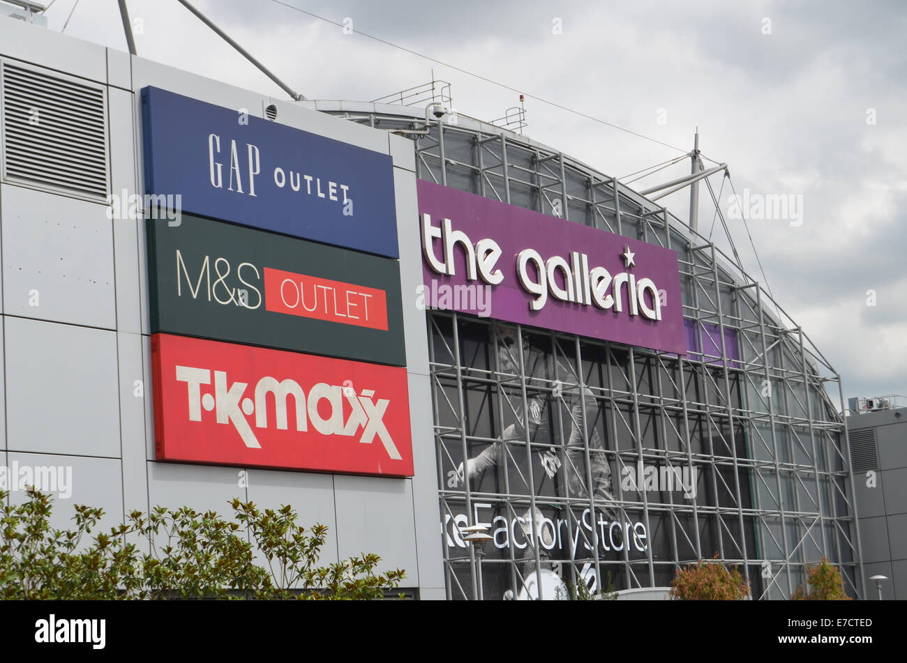 Galleria outlet shopping Hatfield UK 2014 - Stock Image