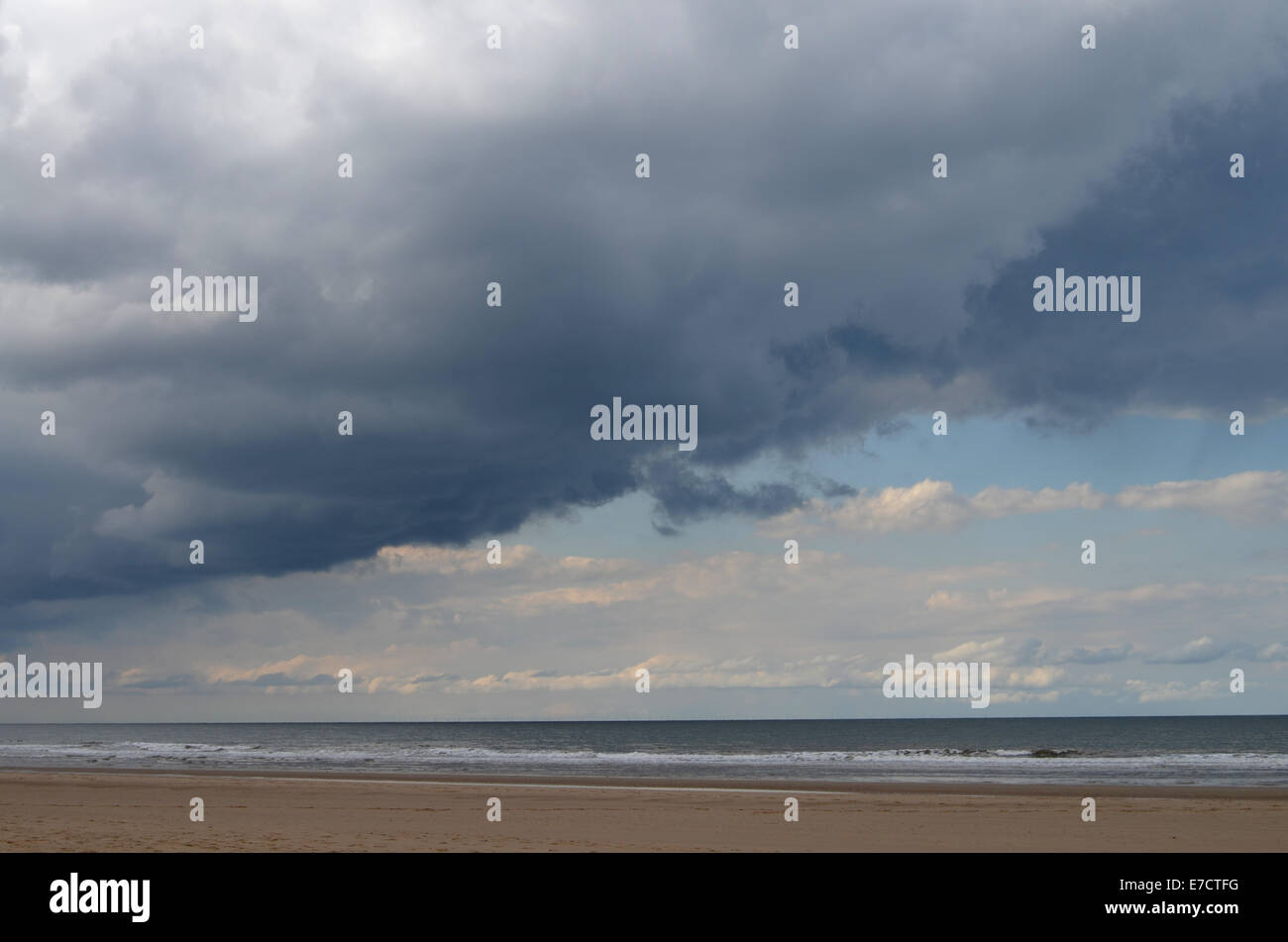 Holkham Bay, East Anglia Aug 2014 UK - Stock Image