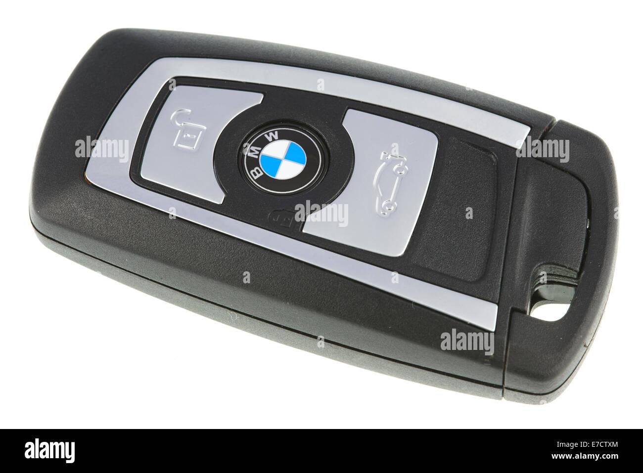 Modern BMW Car Key Fob - Stock Image