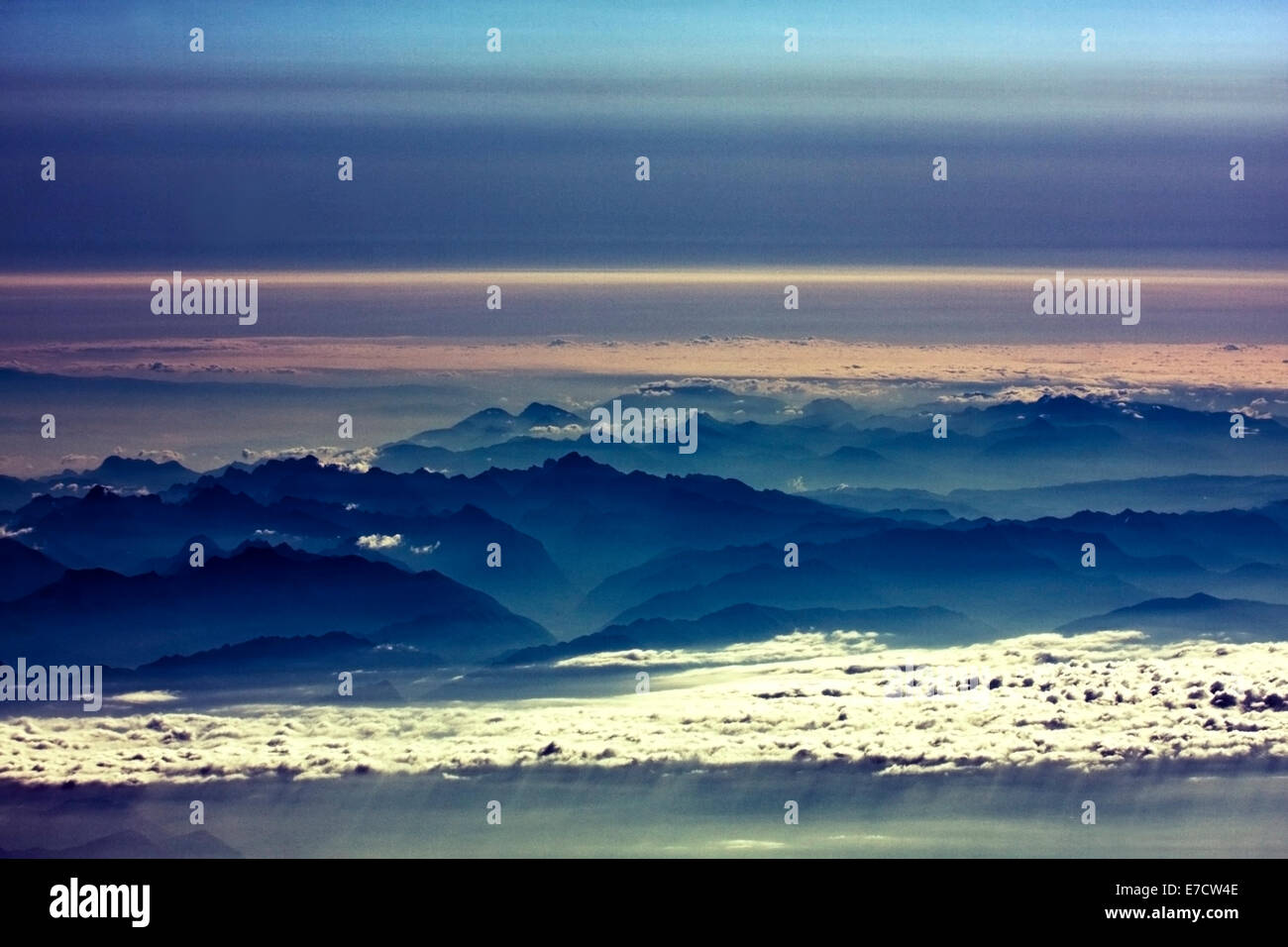 Tranquil view of Alps, Austria - Stock Image