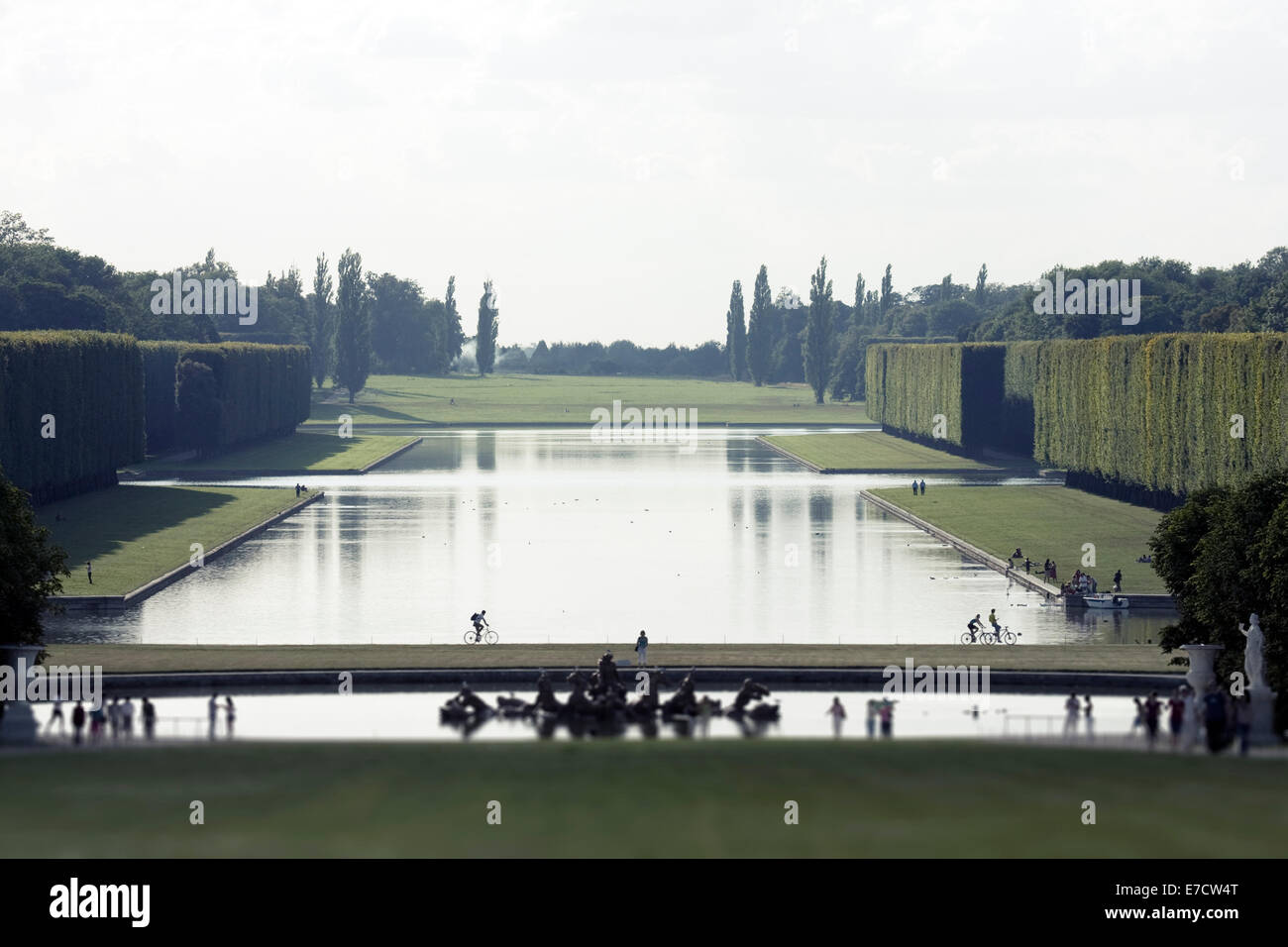 Fountain and Gardens at the Palace of Versailles,  Île-de-France, France - Stock Image