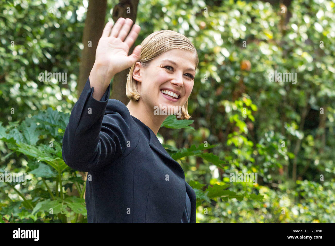 Rosamund Pike attending the 'Gone Girl' photocall at Hotel De Russie. Rome on Septmber 12, 2014 - Stock Image