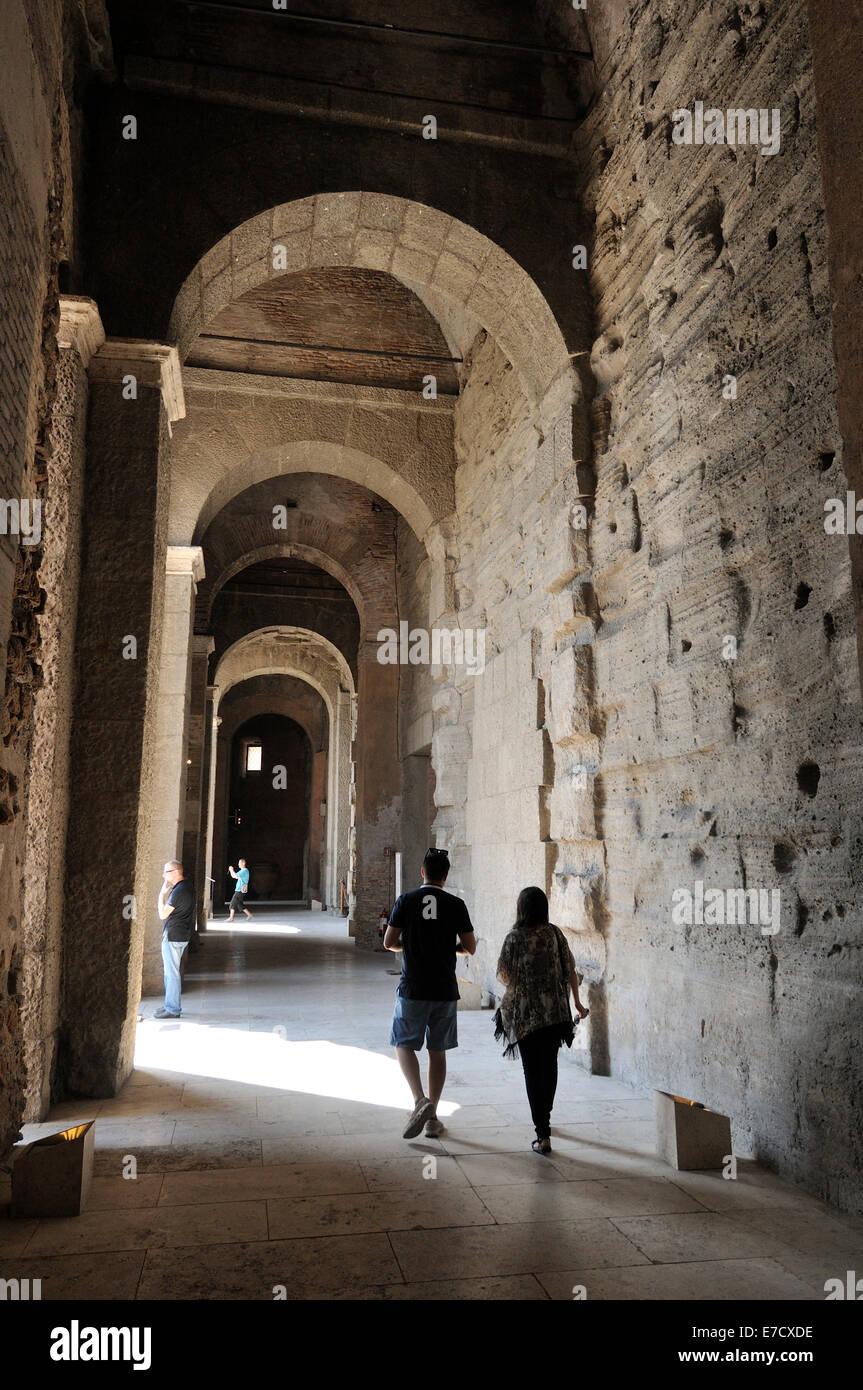 Rome. Italy. Capitoline Museums. Tabularium. - Stock Image