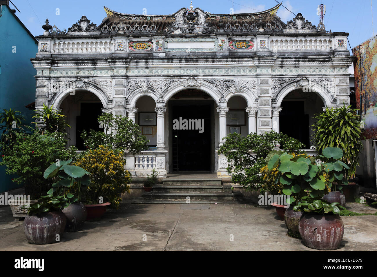 Thuy Le's house in Sa Dec, Vietnam. - Stock Image