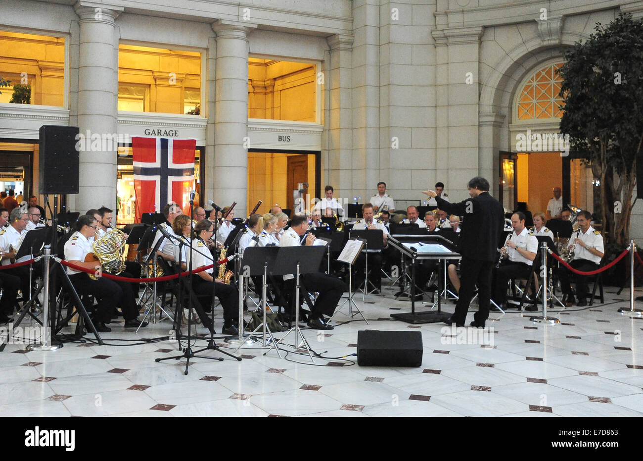 Washington, DC, USA. 12th Sep, 2014. 20140912: The Royal Norwegian Navy Band performs a free concert inside Union Stock Photo