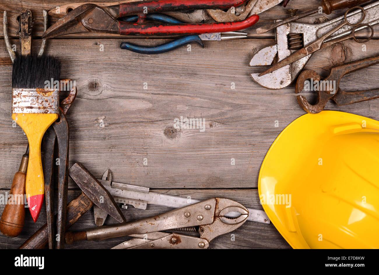 vintage construction tools background E7D8KW vintage construction tools background stock photo 73436269 alamy